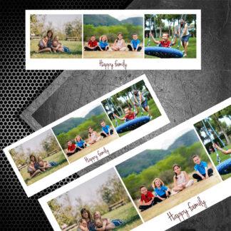 Printuri magnetice banda orizontala personalizate cu fotografia si mesajul tău.